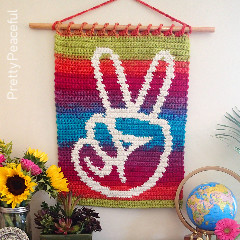 Peaceful Hands Wall Hanging Free Crochet Pattern