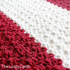Striped Thicket Stitch Blanket Free Crochet Pattern