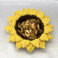 Sunflower Basket Free Crochet Pattern