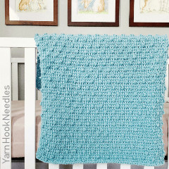Tunisian Bobble Blanket Free Crochet Pattern