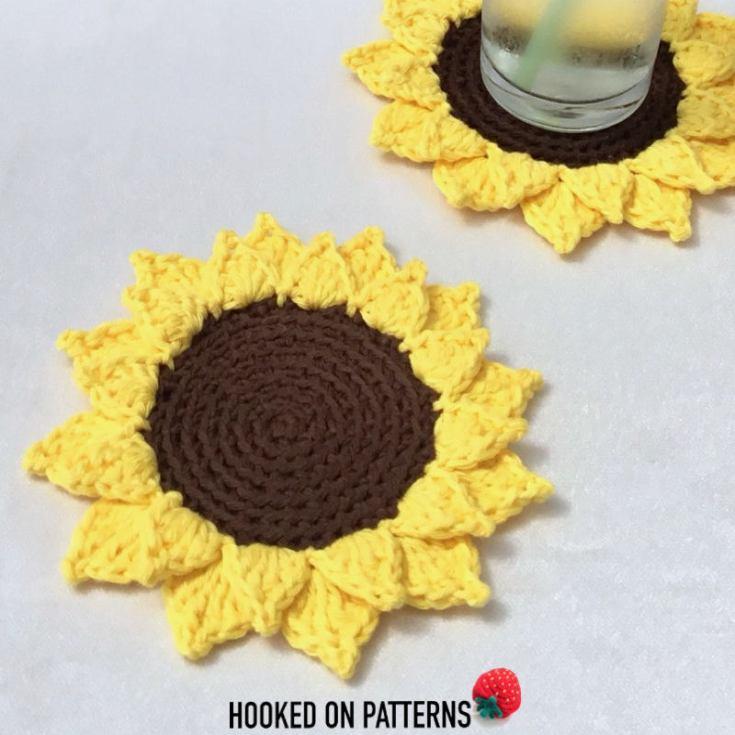 Fun Summer Sunflower Coasters