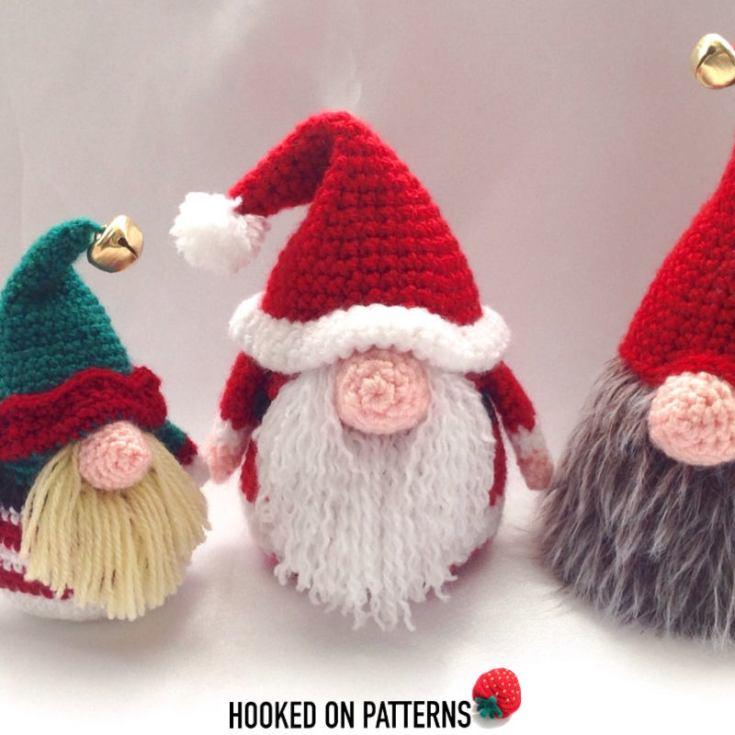 Santa Gonk Crochet Pattern (Santa Claus Doll)
