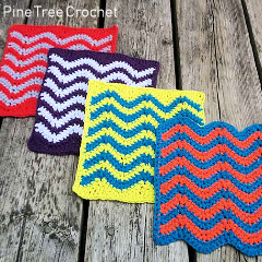 Colorful Chevron Dishcloth Free Crochet Pattern