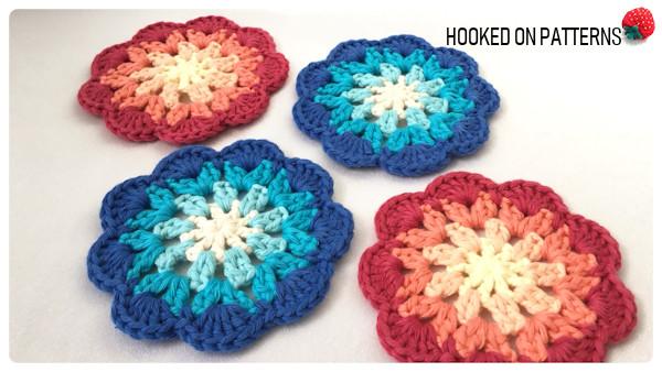 Dainty Flower Coasters Free Crochet Pattern