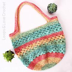 Easy Market Tote Free Crochet Pattern