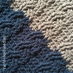 French Braid Blanket Free Crochet Pattern
