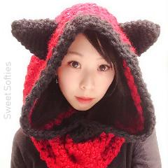 Hooded Fox Cowl Free Crochet Pattern