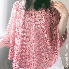 Rose Finch Capelet Free Crochet Pattern