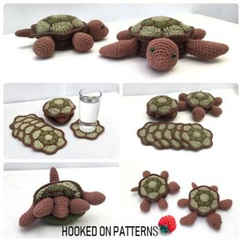 Turtle Coaster Set Crochet Pattern
