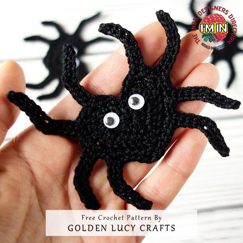 Spider Garland Halloween Free Crochet Pattern