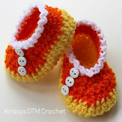 Candy Corn Booties Free Crochet Pattern