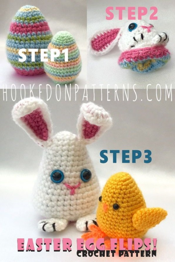 Easter Egg Flips Crochet Pattern