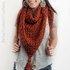 Granny Triangle Scarf Free Crochet Pattern