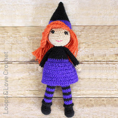 Hazel the Happy Witch Free Crochet Pattern
