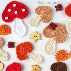 Free Mushroom Applique Crochet Pattern