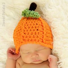 Free Pumpkin Beanie Crochet Pattern