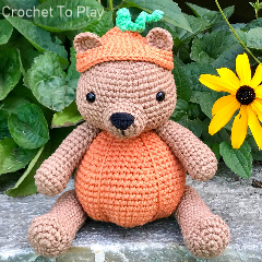Pumpkin Patch Bear Free Crochet Pattern