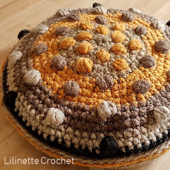 Bubbly Cushion Free Crochet Pattern