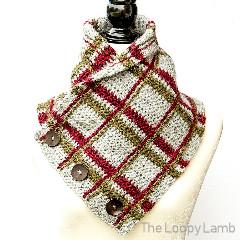 Crochet Tartan Cowl Free Crochet Pattern