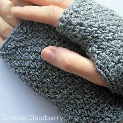 Photographer Gloves Free Crochet Pattern