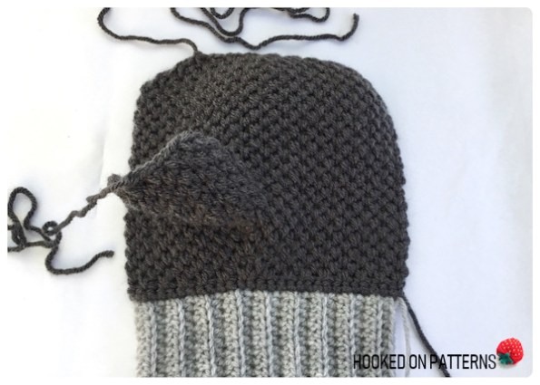 free mittens crochet pattern - Fingers Section