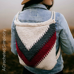 Wanderlust Chevron Backpack Free Crochet Pattern