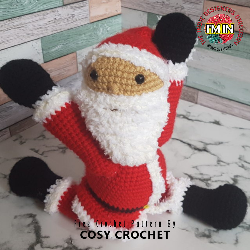 Free Santa Crochet Pattern - Posable Doll