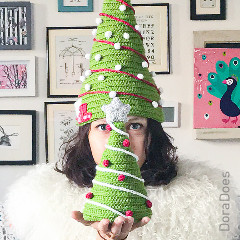 Christmas Tree Hat Free Crochet Pattern