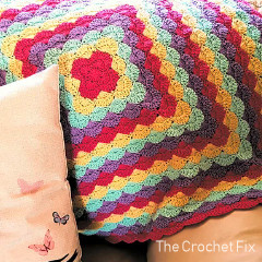 Clam Shells Blanket Free Crochet Pattern