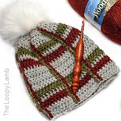 Crochet Tartan Beanie Free Crochet Pattern