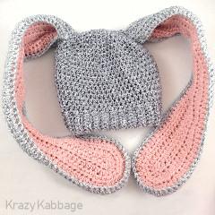 Floppy Bunny Ears Beanie Free Crochet Pattern