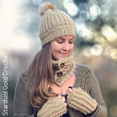 Fuzzy Bee Winter Set Free Crochet Pattern