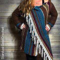 Navajo Inspired Blanket Cardigan Free Crochet Pattern