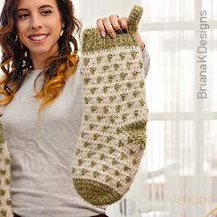 Polka-dot Stocking Free Crochet Pattern