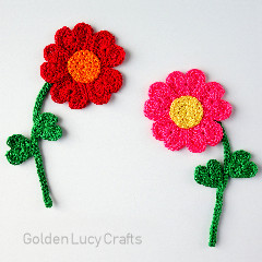 Heart Flowers Free Crochet Pattern