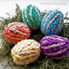 Ribbed Easter Eggs Free Crochet Pattern