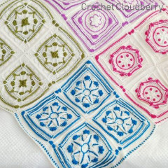 Winter Jewels Blanket Free Crochet Pattern