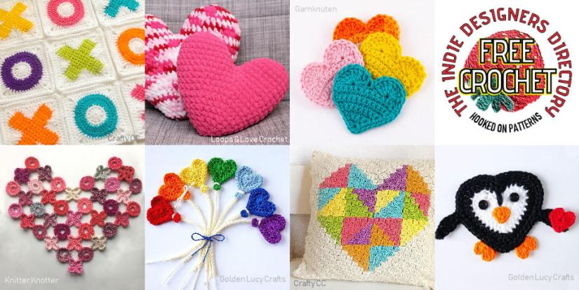 Valentine's Day Crochet Patterns in the Indie Designers Directory