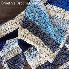 Beach Blues Crochet Baby Blanket Free Crochet Pattern