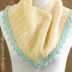 Maia Triangular Shaw Free Crochet Pattern