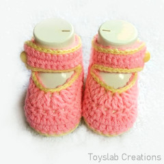 Baby Girl Shoes Free Crochet Pattern
