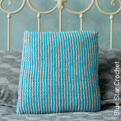 Interlocking Pinstripes Cushion CoverFree Crochet Pattern