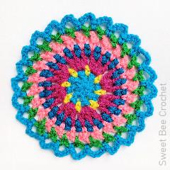 Morning Mini Mandala Free Crochet Pattern