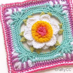 Picture Perfect Peony Square Free Crochet Pattern