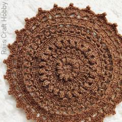 Textured Flower Tablemat Free Crochet Pattern