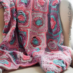 Tinted Mayapple Flower Blanket Free Crochet Pattern
