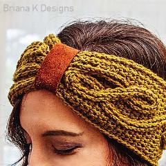 Travelling Vine Earwarmer Free Crochet Pattern
