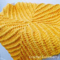 Chenille Baby Blanket Free Crochet Pattern