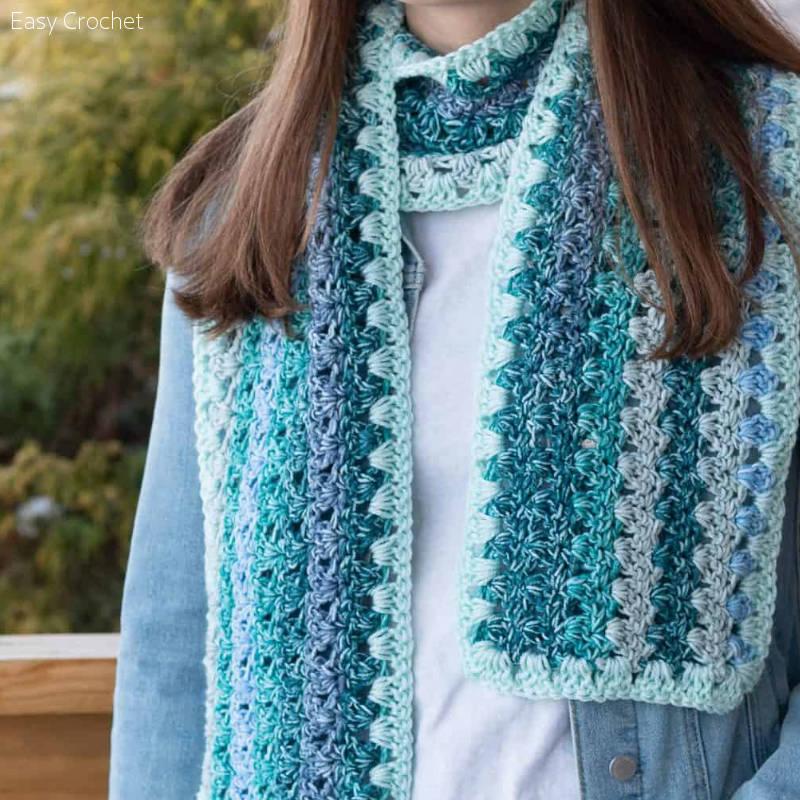 Ombre Scarf Free Crochet Pattern