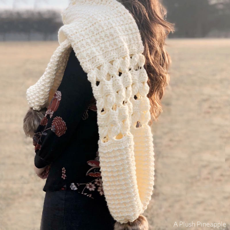 Pineapple & Pine Crochet Scarf or Cowl Free Crochet Pattern